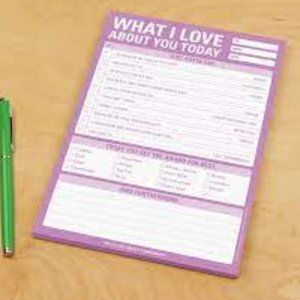 Knock Knock What I Love About You Today Checklist